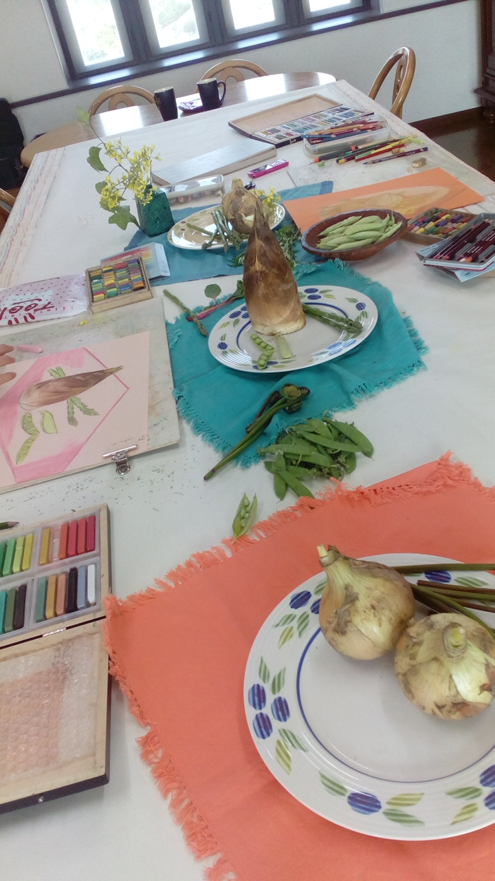 春野菜を描こう